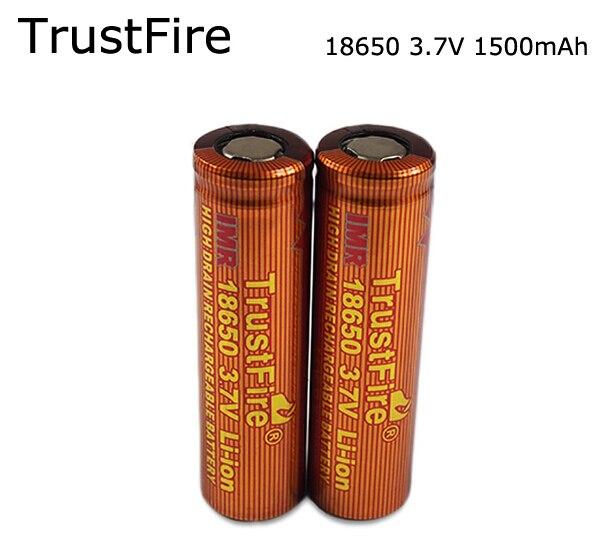 4PCS/LOT TrustFire IMR 18650 1500mAh 3.7V  Li-ion Battery High Drain Rechargeable Batteries Free Shipping