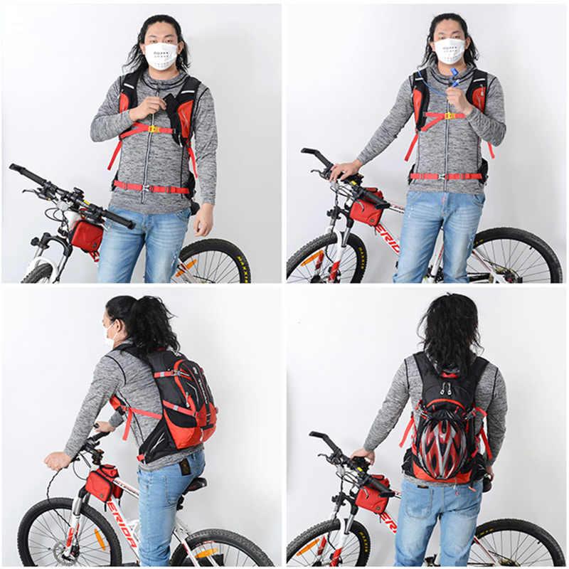 25L Olahraga Reflektif Ransel Bersepeda Tas Camping Ransel untuk Sepeda Wanita Pria Sepeda Luar Ruangan Menjalankan Hiking Rucksack XA975WD