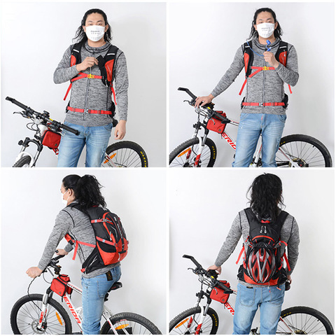 acampamento mochilas para bicicleta das mulheres dos