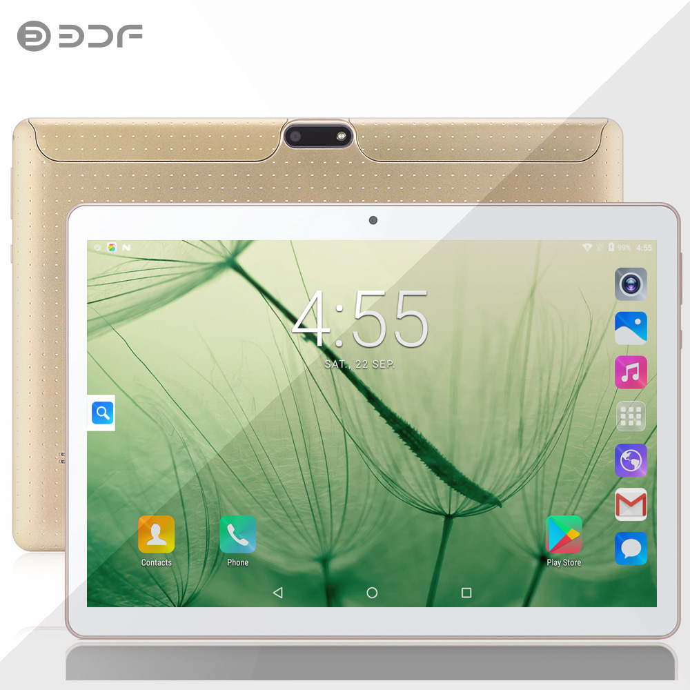 BDF New 10 Inch 3G 2G Phone Call Android 7.0 Quad Core 1G+32G Android Tablet Pc WiFi Bluetooth GPS Google Play 10.1 Tablets