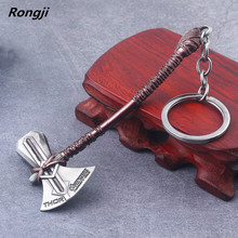 Marvel Avengers 4 Keychain Thor Axe Hammer mjolnir Infinity War The Dark World Key Finder Bags Keyring Jewelry Accessories(China)