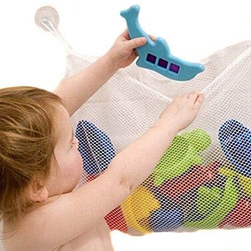 Kids Baby Bath Toy Mesh Organizer Storage Bathroom bath Toys Stuff Bag (37*37CM)