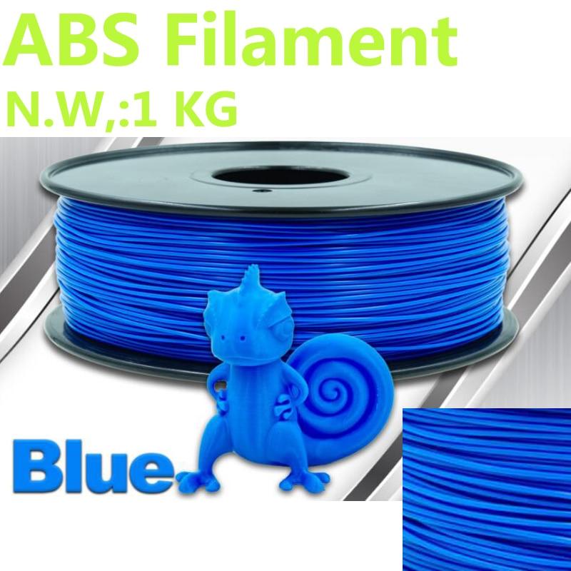 Blue Color Abs 1.75 Mm 3d Printer Filament 375mLength 3d