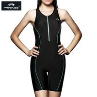 PHINIKISS Professional Women Racing Swimsuit Large Size one piece Suits Swimming Sport Competition Swimwear 2018 Black Bodysuit