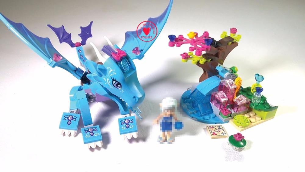 New Fairy Elves Water Dragon Adventure fit legoings elves fairy friends model Building block Brick 41172 gift kid toys girls 2018 new girl friends fairy elves dragon building blocks kit brick toys compatible legoes kid gift fairy elves girls birthday