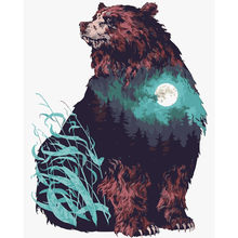 Moon Bear Animal DIY Digital Painting By Number Modern Wall Art Canvas Painting Christmas Unique Gift Home Decor 40x50cm(China)