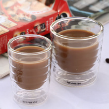 6Pcs/Set Coffee Cup Caneca Hand Double Wall Glass Tea Cups Whey Protein Canecas Nespresso espresso 85ml 150ml Thermal