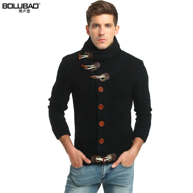 bolubao new men sweater fashion brand clothing winter thick turtleneck mens christmas sweaters coat male knitted