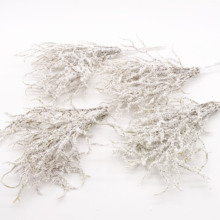 6 pcs Kunstmatige witte Gras Planten Kunstbloemen voor Wedding Christmas Decor DIY scrapbooking Krans Nep bloemen