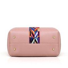 2018 Women Messenger Bags For Ladies Handbag Fashion Shoulder Bag Lady PU Leather Casual Female wristlets sac a main Set 4 Pcs