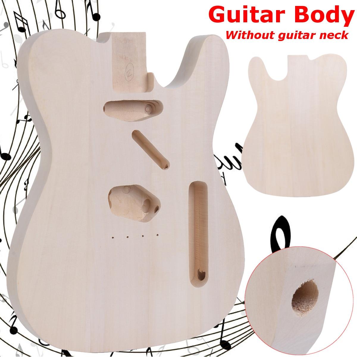 Livraison gratuite bricolage inachevé guitare électrique corps Basswood pour Telecaster guitare remplacer pièces guitare baril pièces
