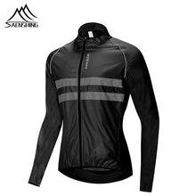 SAENSHING Светоотражающая велосипедная куртка Мужская ветрозащитная Водонепроницаемая MTB велосипедная куртка непромокаемая Спортивная велосипедная куртка