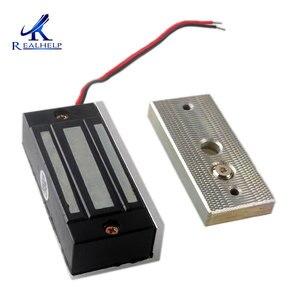Image 1 - Горячая продажа 60 кг 120Lbs электронная система контроля доступа Мини магнитный замок Электрический замок стеклянные двери, входные гвардии Бесплатная доставка
