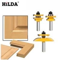 HILDA 1 2 Shank Rail Stile Ogee Blade Cutter 3 Panel Cabinet Router Bits Set Milling