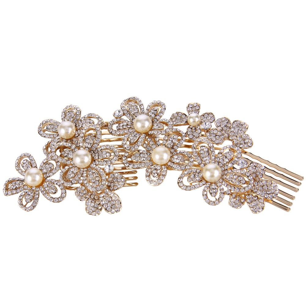 Online get cheap hair flower ivory aliexpress alibaba group bella fashion flower bridal hair comb austrian crystal head piece ivory simulated pearl side comb for dhlflorist Choice Image