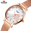 GUANQIN Ultra-thin waterproof fashion women's watches simple leisure Quartz watch women Dress up watch relogio feminino
