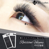 BLINK LASH(7 14) JBCDLCurl,0.15Thick, Original Packing, Korea Faux Eyelashes Mink Eyelash Extension Makeup