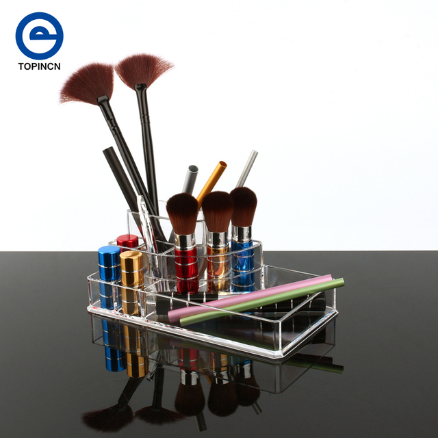 Clear Acrylic Jewelry Organizer Box Pen Stand Display Pencil Holder