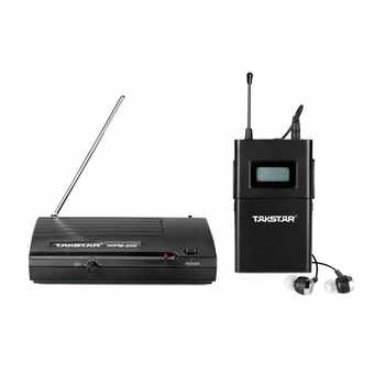 Takstar wpm-200/wpm200 UHF Wireless Monitor System use for recording studio / on-stage Monitoring 1 Transmitter+5 Receivers