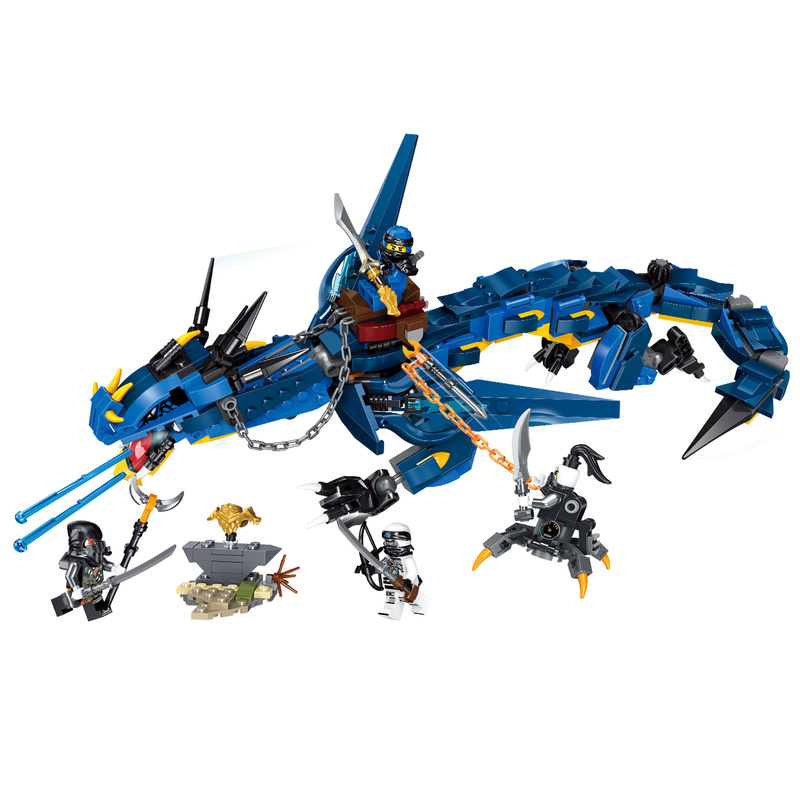 все цены на Ninja Ninjagoed Masters of Spinjitzu Stormbringer Compatible Legoings 70652 Building Blocks Bricks Model Toys for Gift в интернете