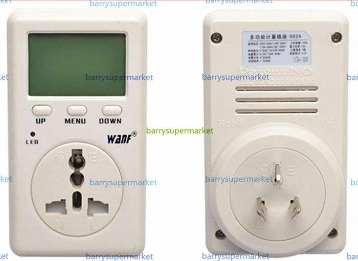 WF-D02A Saving Energy Wanf Mini WATT Electricity Power Energy Meter Tester Ammeter Monitor AC Voltage Taiwan Plug  цены