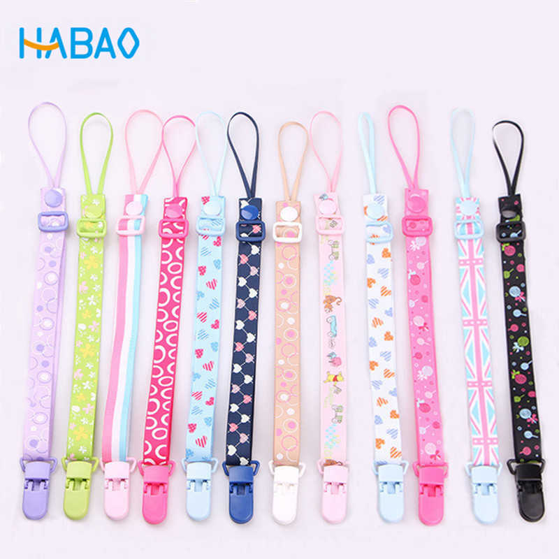 The New Baby Pacifier Clip Chain Dummy Holder For Nipples Children Pacifier Clips Pacifier Holder Adjustable Holder for Nipples