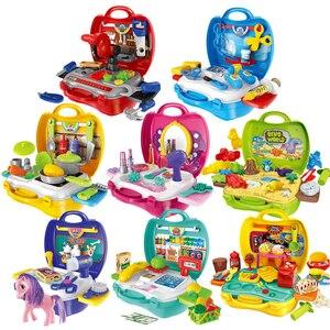 Image 2 - Keuken Pretend Play Kit Voedsel Speelgoed Miniatuur Educatieve Rol Speelhuis Spel Puzzel Cocina Juguete Gift Voor Meisje Kid Kinderen