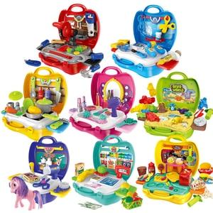 Image 2 - Kuchnia udawaj zagraj w zestaw zabawki w kształcie jedzenia miniaturowe edukacyjne do odgrywania ról dom gra Puzzle Cocina Juguete prezent dla dziewczyny Kid dzieci