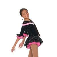 2017 New Arrival Ballroom Dress Dazzle Dance Dragonfly Custom Adult Children Skirt Figure Skating Skating Training Dress HY852
