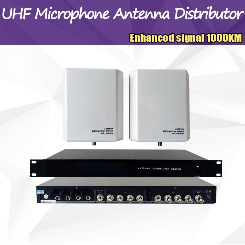 1000 meter Frekvens 550-1000MHz Fyra kanalantennfördelare - Bärbar ljud och video