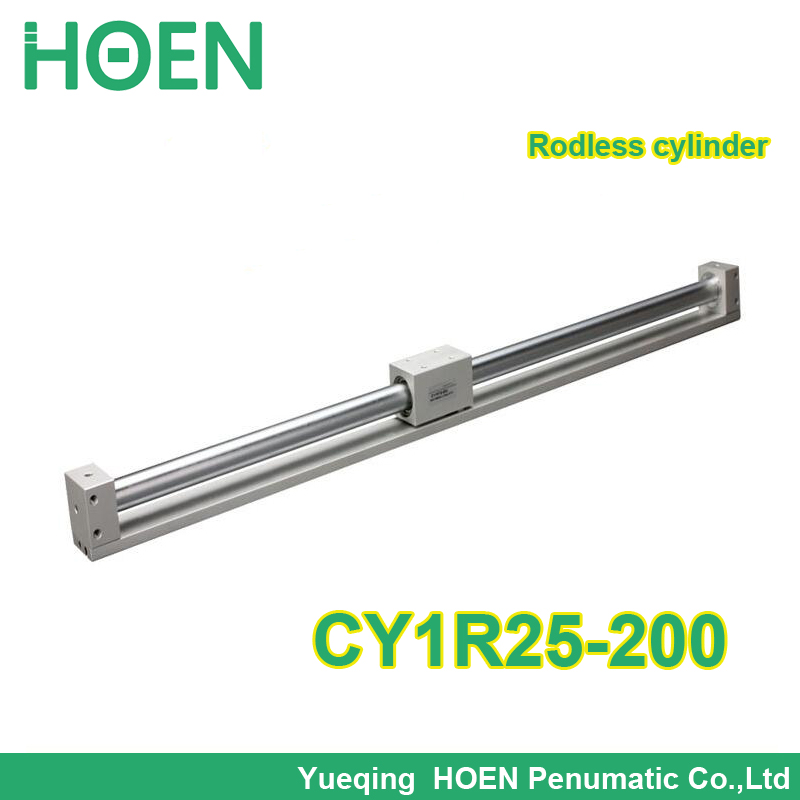 CY1R25-200 SMC type Rodless cylinder 25mm bore 200mm stroke high pressure pneumatic cylinder CY1R CY3R series CY1R25*200 high quality double acting pneumatic gripper mhy2 25d smc type 180 degree angular style air cylinder aluminium clamps