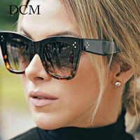 Gafas De Sol cuadradas De moda DCM gafas De Sol Vintage De marca De diseñador De plástico para mujer gafas De Sol para mujer Oculos De Sol femenino UV400