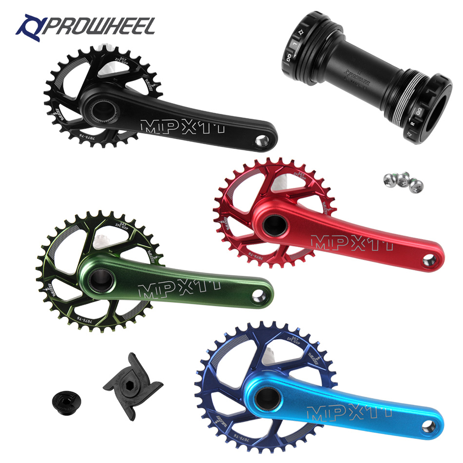 Mountain Bicycle Crankset Sprocket 170 175mm Crank 30 32 34 36 38T chainring With Bottom Bracket