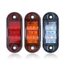 1 шт., 12 В, 24 В, янтарный, белый, красный, 2 светодиодных боковых габаритных фонаря, задний стоп-сигнал для автомобиля, грузовика, прицепа, грузовика, автобуса, фургона, звукоснимателя, сигнальный фонарь