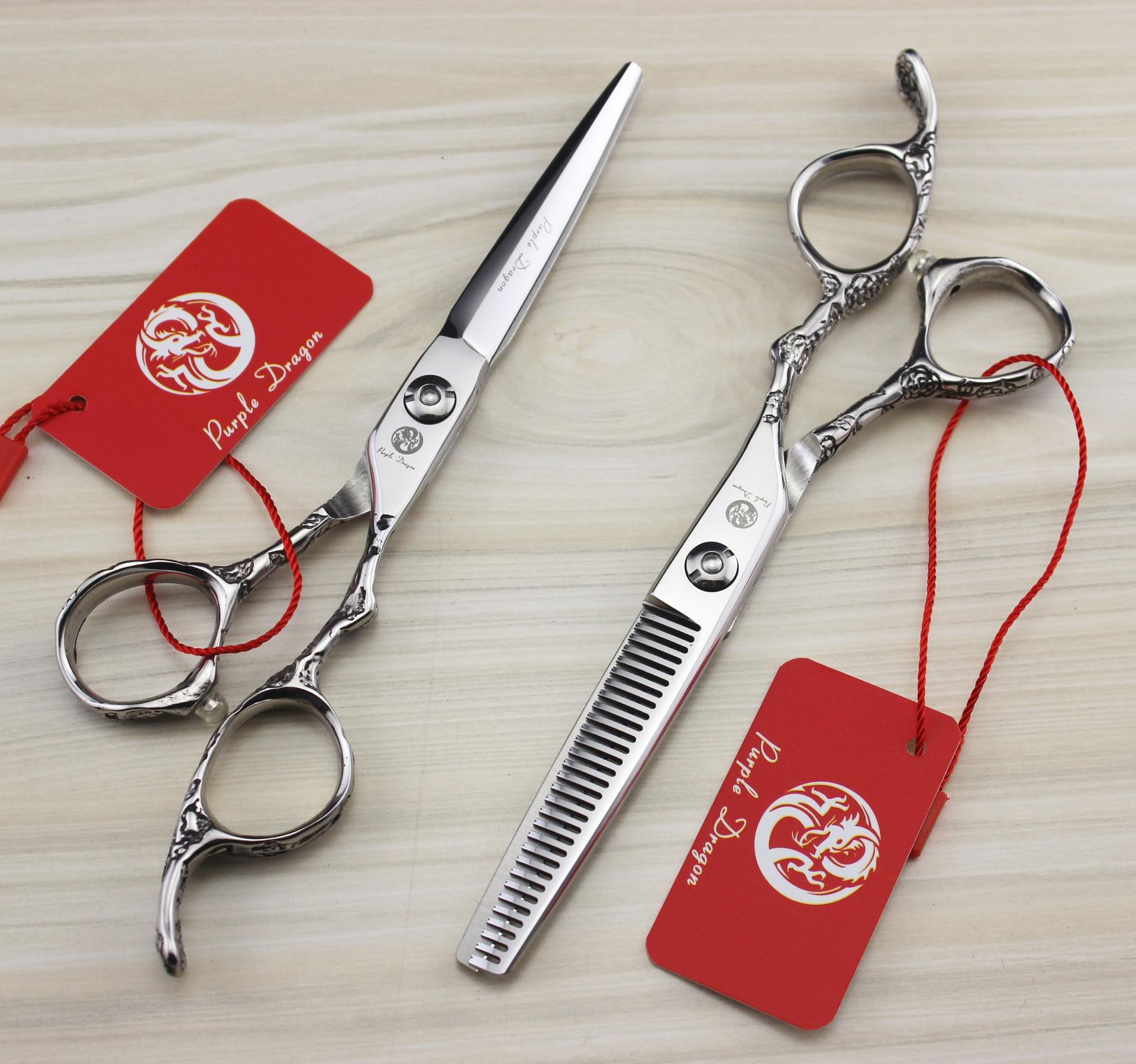 Ciseaux minces professionnels de 6 pouces ciseaux de coiffure de coiffeur fleur de prunierCiseaux minces professionnels de 6 pouces ciseaux de coiffure de coiffeur fleur de prunier