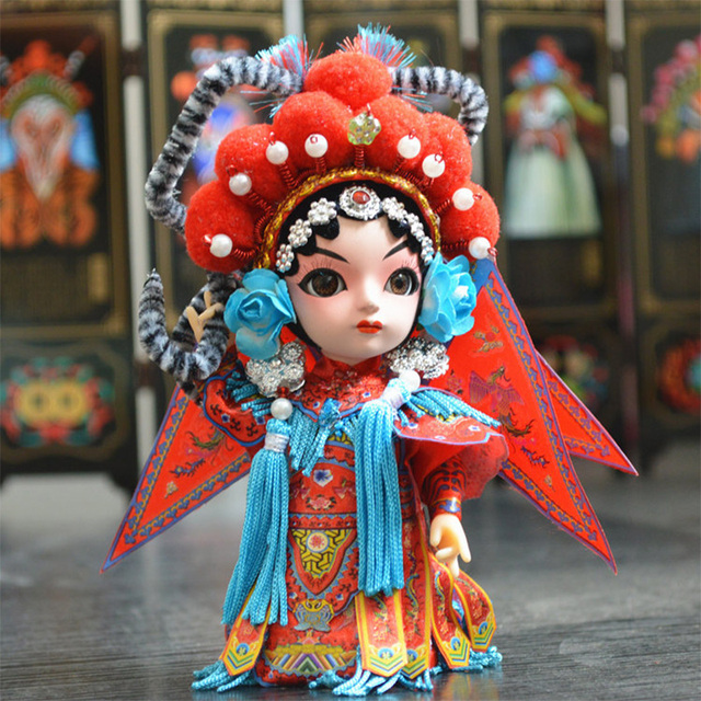 Traditional Chinese Dolls Silk Figurine Akrp Beijing Opera  Peking     Traditional Chinese Dolls Silk Figurine Akrp Beijing Opera  Peking Opera  Doll Mascot