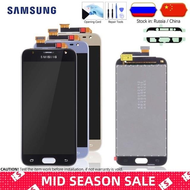 Original Pantalla Para SAMSUNG Galaxy J3 2017 LCD Display Cristal Táctil digitalizador Asamblea Completa J3 Pro 2017 LCD J330F J330 SM-J330F