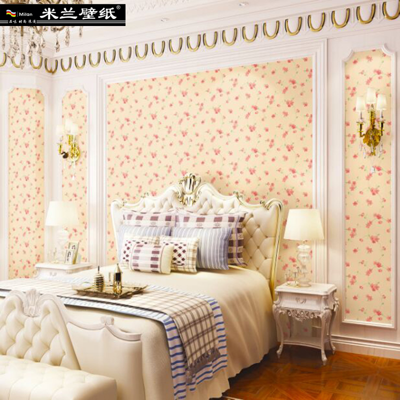 MILAN 2018 Fashion Floral Home Decor 3d Wallpaper Roll for Living Room and Bedroom European Pastoral Style 3d Wall paper Roll pastoral style wallpaper floral 3d vertical stripe wallpapers for living room sofa tv background walls decor wall paper roll