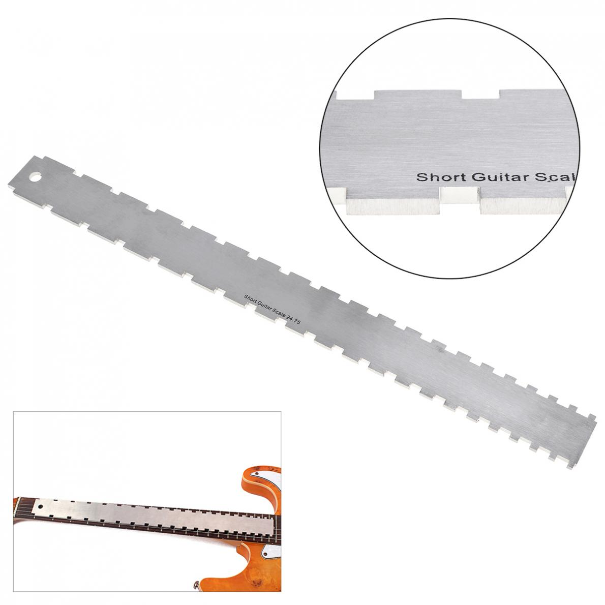 Musical Instruments Honesty Guitar Fingerboard Ruler Silver Stainless Steel Guitar Neck Notched Straight Edge Luthiers Tool Guitar Accessories 1pc Sports & Entertainment