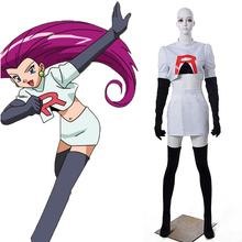 Equipo Rocket Jesse Cosplay mujeres Juego Pocket Monster 4 unidades Cosplay Fantasia Anime Cospaly de Halloween Ropa