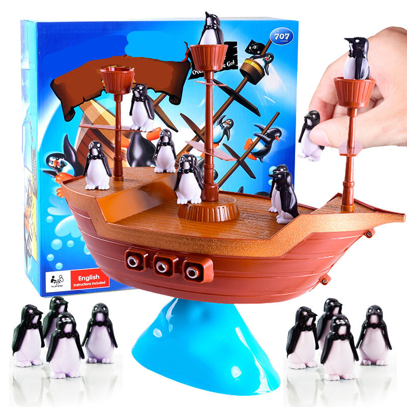 Children Educational Toys Penguin Pirate Ship Balance Family Parent-Child Interaction Children Desktop Game For Children Gift