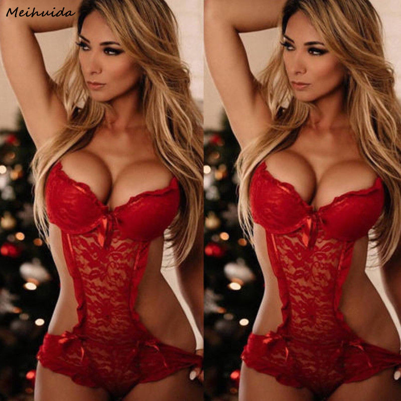 Hot Sale Sexy  Sexy Nightwear Underwear Porn Sexy  Women Hot Erotic Baby Dolls Dress Women Teddy Lenceria(China)