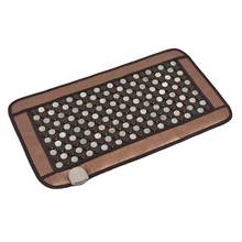 POP RELAX Jade Tourmaline germanium Stones Far Infrared Therapy Heating Mat Jade Stone Massage Mat physiotherapy pad 45x80cm