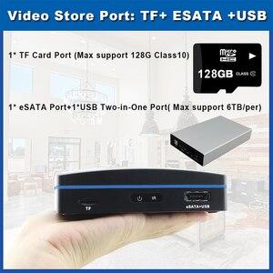 Image 5 - Akıllı süper Mini NVR 4CH 8CH ağ kaydedici CCTV NVR Onvif H.264 için 720P/960P/1080P IP kamera desteği eSATA/TF/USB