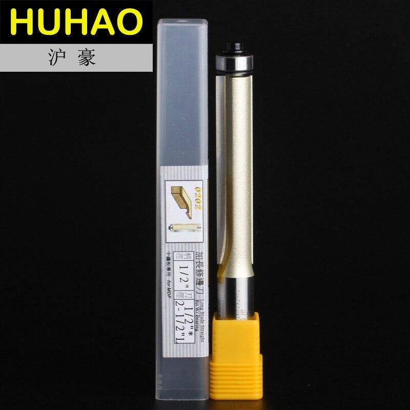 2 flautas Profissionais Longa Lâmina Lave Guarnição Bit Arden Router Bits Reta Longa--1/2*1/2*2 -1/2-1/2
