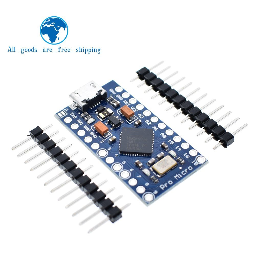 TZT Pro Micro ATmega32U4 5V 16MHz Replace ATmega328 For Arduino Pro Mini With 2 Row Pin Header For Leonardo Mini Usb Interface(China)