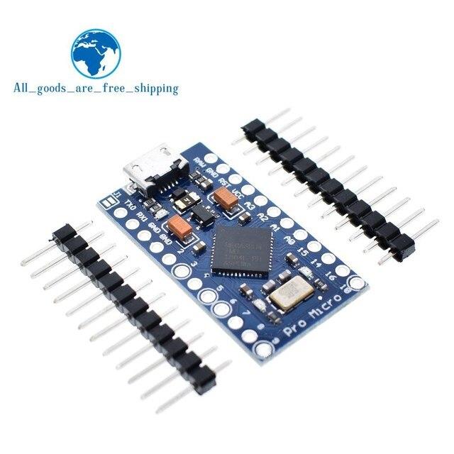 TZT Pro Micro ATmega32U4 5 V 16 МГц заменить ATmega328 для Arduino Pro Mini с 2 строки заголовка штифт для Леонардо Mini-Usb Интерфейс