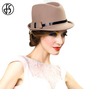 51dc0b7cc8c FS Womens Wool Felt Vintage Fedoras Church Hats Lady