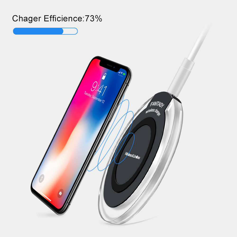 shunkin mini qi wireless charger usb charge pad for iphone. Black Bedroom Furniture Sets. Home Design Ideas