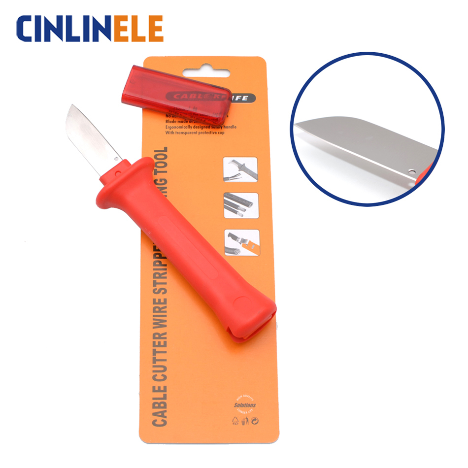 32hs German Style Cable Knife Cable Stripper Patent Stripping Tools Decustation Plier Blade Length 50mm Total Length 180mm Online Rabatt Werkzeuge